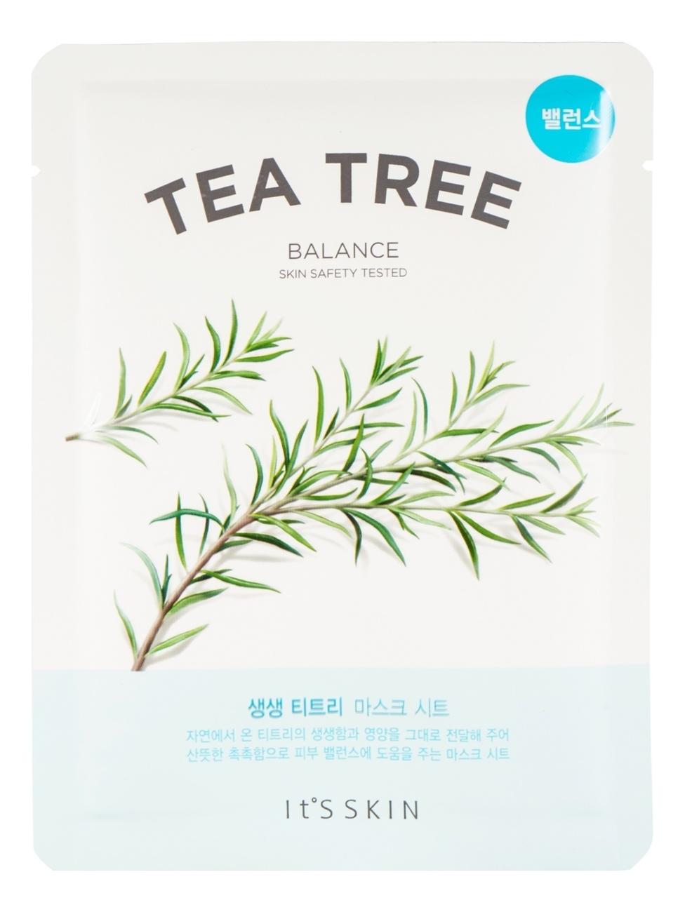 Противовоспалительная тканевая маска с чайным деревом The Fresh Tea Tree Mask Sheet 18г