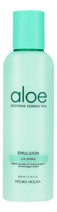 Фото - Увлажняющая эмульсия для лица Aloe Soothing Essence 90% Emulsion 200мл holika holika aloe soothing essence 90% emulsion увлажняющая эмульсия для лица 200 мл