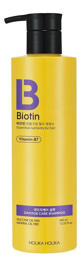 Шампунь для поврежденных волос Biotin Damage Care Shampoo 400мл jason шампунь biotin