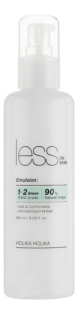 Фото - Увлажняющая эмульсия для лица против покраснений и акне Less On Skin Emulsion 180мл holika holika aloe soothing essence 90% emulsion увлажняющая эмульсия для лица 200 мл