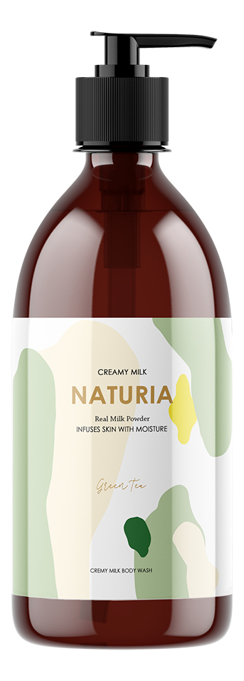 Гель для душа Зеленый Чай Naturia Creamy Milk Body Wash Green Tea: Гель750мл lipton ice tea зеленый холодный чай 1 л