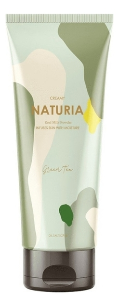 Скраб для тела Зеленый Чай Naturia Creamy Oil Salt Scrub Green Tea 250мл