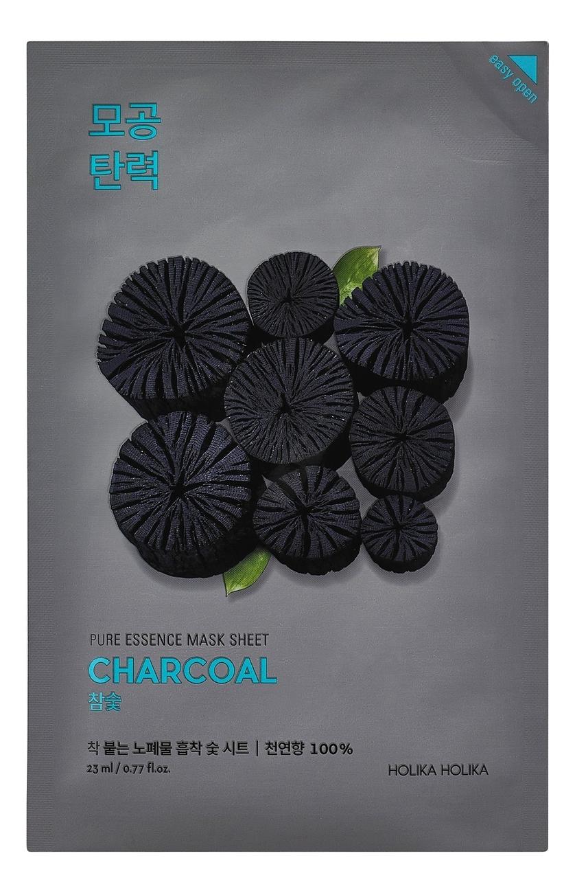 Успокаивающая тканевая маска с углем Pure Essence Mask Sheet Charcoal 23мл: Маска 1шт