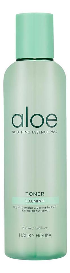 Фото - Увлажняющий тонер для лица Aloe Soothing Essence 98% Toner 250мл увлажняющий тонер для лица с витаминами vitamin moisture toner 250мл
