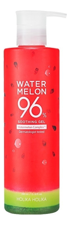 Гель для лица и тела с экстрактом арбуза Water Melon 96% Soothing Gel 390мл