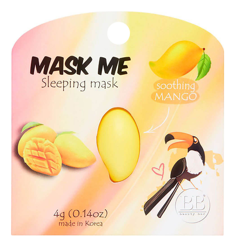 Ночная маска для лица с экстрактом манго Beauty Me Sleeping Mask Soothing Mango 4мл фото