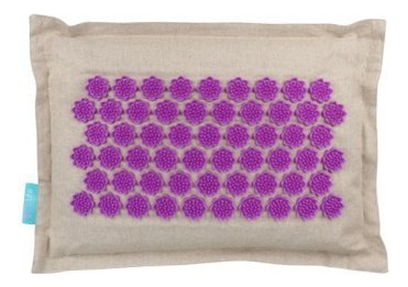 Массажная подушка акупунктурная EcoLife (фиолетовая)