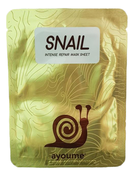 Тканевая маска для лица с муцином улитки Snail Intense Repair Mask Sheet 20мл