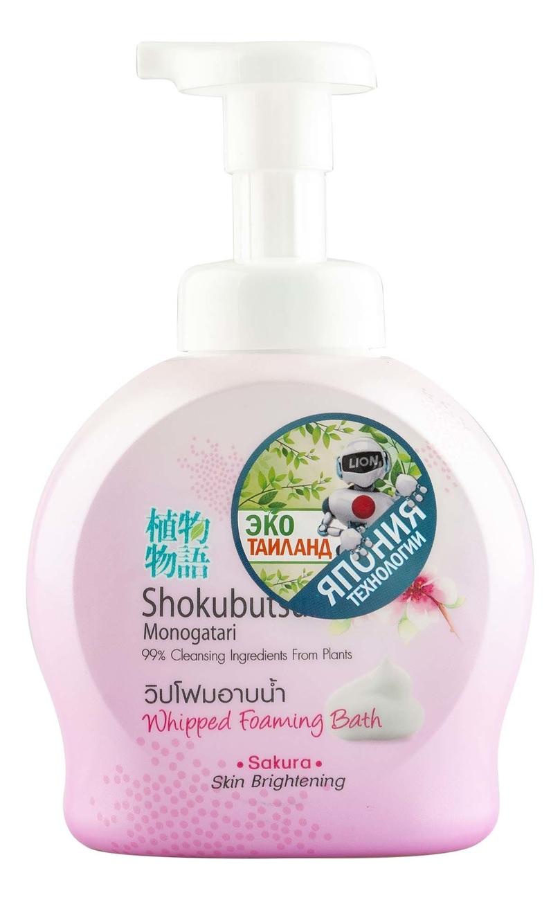 Гель-пена для душа с экстрактом сакуры Shokubutsu Monogatari Sakura Foaming Bath: Гель-пена 450мл гель пена для душа love me bubble bath