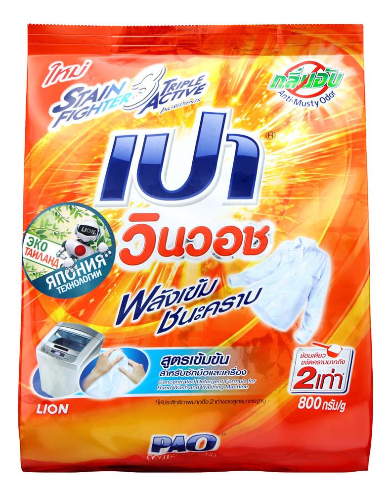 Стиральный порошок Pao Win Wash Regular 800г фото