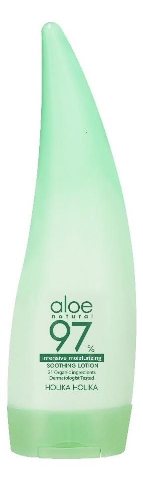 Купить Интенсивно увлажняющий лосьон для лица и тела Aloe 97% Intensive Moisturizing Soothing Lotion 240мл, Holika Holika