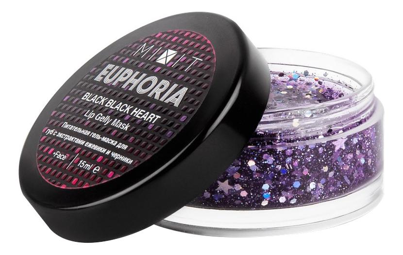 цена на Питательная гель-маска для губ Euphoria Black Black Heart Lip Gelly Mask 15мл