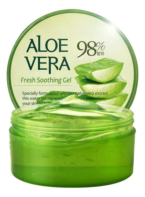 Смягчающий гель для лица и тела с экстрактом алоэ вера 98% Aloe Vera Fresh Soothing Gel: Гель 300мл гель для тела farmstay универсальный смягчающий с экстрактом алоэ aloe vera moisture soothing gel 300 мл