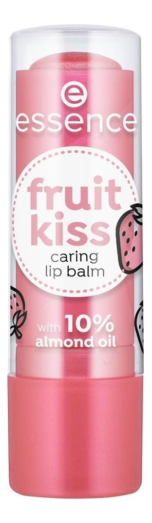 Купить Бальзам для губ Fruit Kiss Caring Lip Balm 4, 8г: 03 Strawberry Kiss, essence