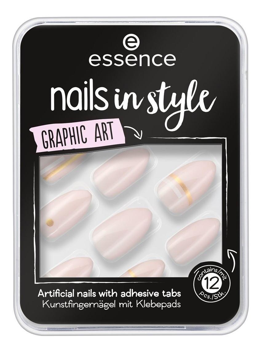 Накладные ногти на клейкой основе Nails In Style No09 Graphic Art