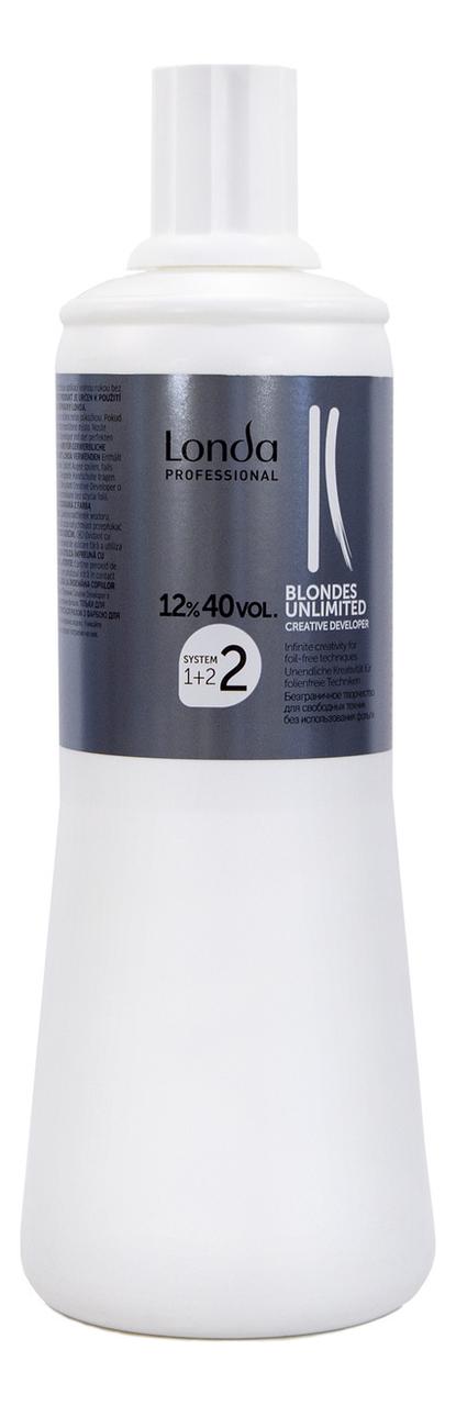 Окислительная эмульсия для волос Blondes Unlimited 12%: Эмульсия 1000мл londa окислитель для краски для волос blondes unlimited 1 л 6 9 12% 1 л 12%