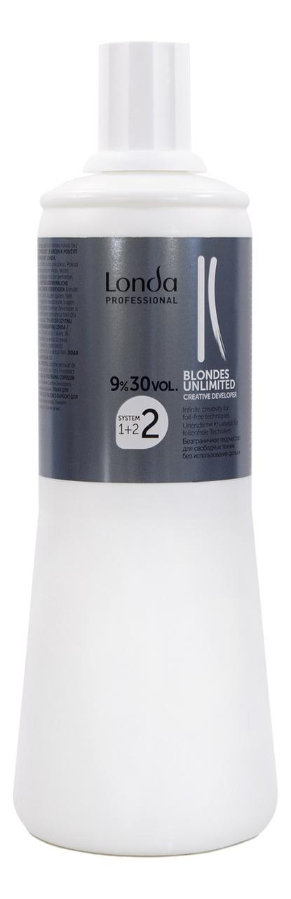 Окислительная эмульсия для волос Blondes Unlimited 9%: Эмульсия 1000мл londa окислитель для краски для волос blondes unlimited 1 л 6 9 12% 1 л 12%