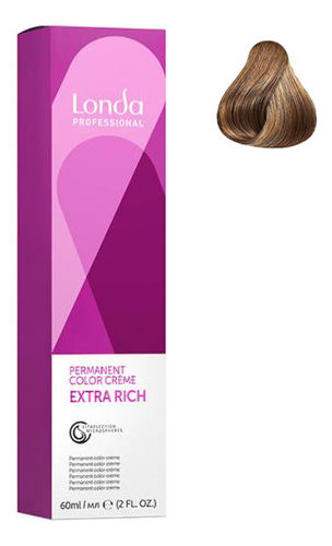 Фото - Крем-краска для волос Londacolor 60мл: 8/07 Светлый блонд натурально-коричневый крем краска для волос londacolor 60мл 10 65 клубничный блонд