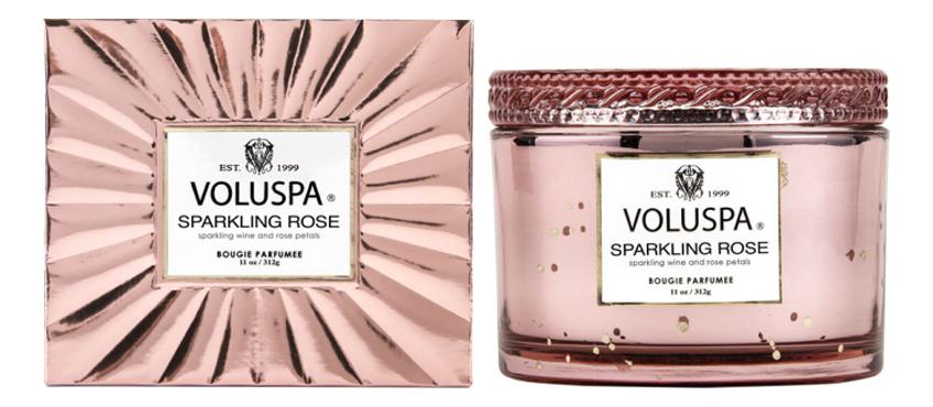 Фото - Ароматическая свеча Sparkling Rose (Игристое розе): свеча в подарочной коробке 312г ароматическая свеча игристое вино свеча 70г