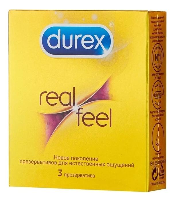 Купить Презервативы для естественных ощущений RealFeel: Презервативы 3шт, Durex
