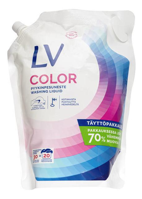 Концентрированное жидкое средство для стирки Color Pussipakkaus: Средство 1500мл (запасной блок) lv концентрированное жидкое средство для стирки 1 5 л