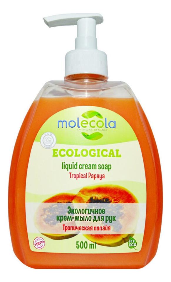 Купить Экологичное крем-мыло для рук Тропическая папайя Ecological Liqiud Cream Soap 500мл, Molecola