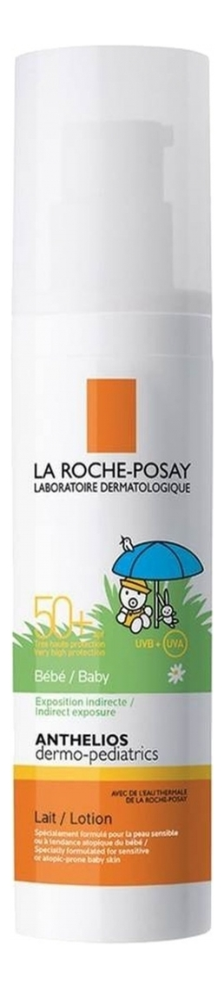 Фото - Солнцезащитное молочко для лица и тела Anthelios Dermo-Pediatrics Bebe Lait SPF50+ 75мл молочко для тела la roche posay lipikar lait без отдушки 200 мл