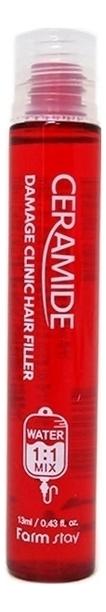 Купить Филлер для волос Ceramide Damage Clinic Hair Filler: Филлер 13мл, Farm Stay