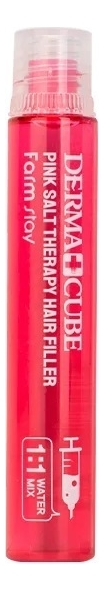 Купить Укрепляющий филлер для волос с розовой солью Derma Cube Pink Salt Therapy Hair Filler: Филлер 13мл, Farm Stay