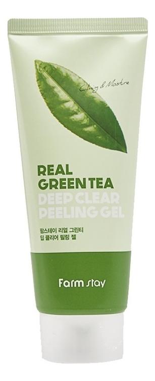 Очищающий пилинг-гель для лица с экстрактом зеленого чая Real Green Tea Deep Clear Peeling Gel 100мл