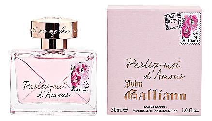 цена на John Galliano Parlez-moi d'Amour: парфюмерная вода 30мл