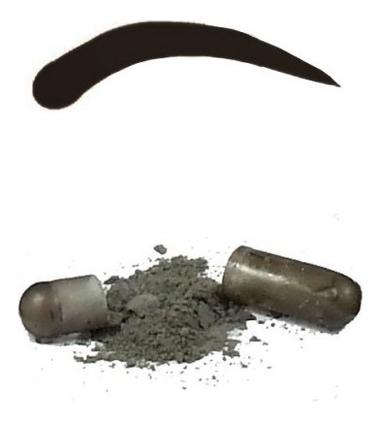 Синтетическая краска-хна в капсулах для бровей Eyebrow Tint 1 капсула: Natural Black