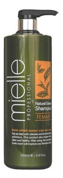 Купить Шампунь для волос Professional Natural Green Shampoo Femme 1000мл, Mielle