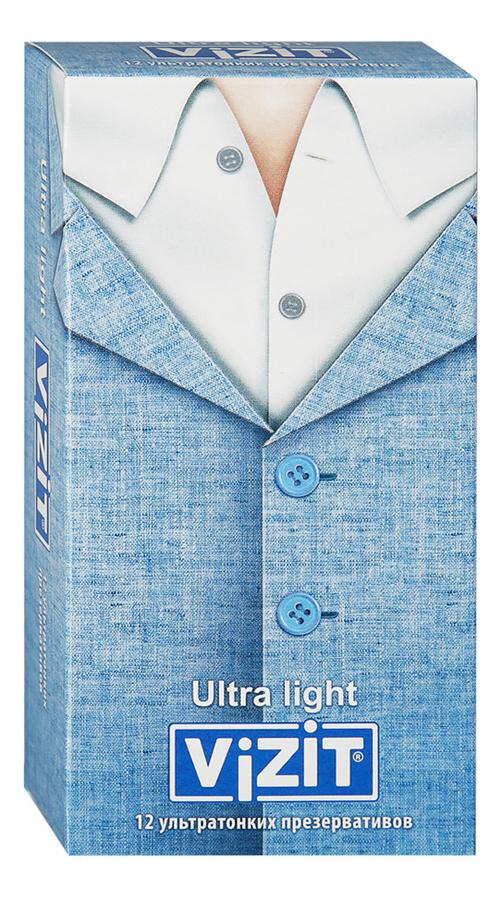 Презервативы ультратонкие с силиконовой смазкой Hi-Tech Ultra Light: 12шт