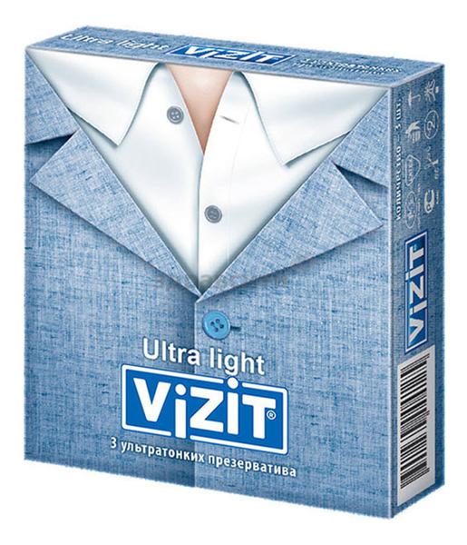 Презервативы ультратонкие с силиконовой смазкой Hi-Tech Ultra Light: 3шт