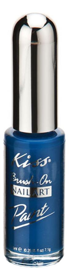 Купить Краска для дизайна ногтей Nail Paint 7, 5мл: Blue PA07, Kiss