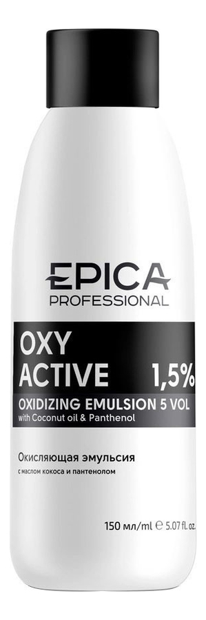 Фото - Кремообразная окисляющая эмульсия с маслом кокоса и пантенолом Oxy Active 150мл: Эмульсия 1,5% кремообразная окисляющая эмульсия с маслом кокоса и пантенолом oxy active 150мл эмульсия 3%