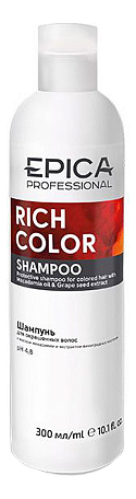 Шампунь для окрашенных волос Rich Color Shampoo: Шампунь 300мл шампунь reveur rich repair