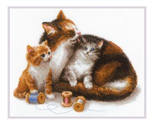 """РИОЛИС набор для вышивания крестом сотвори сама """"кошка с ..."""