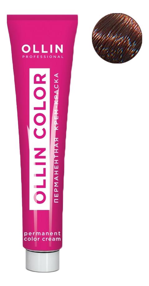 Купить Перманентная крем-краска для волос с экстрактом подсолнечника и шелка Ollin Color 100мл: 6/75 Темно-русый коричнево-махагоновый, OLLIN Professional