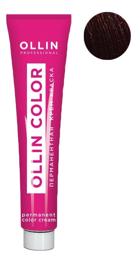 Купить Перманентная крем-краска для волос с экстрактом подсолнечника и шелка Ollin Color 100мл: 7/5 Русый махагоновый, OLLIN Professional