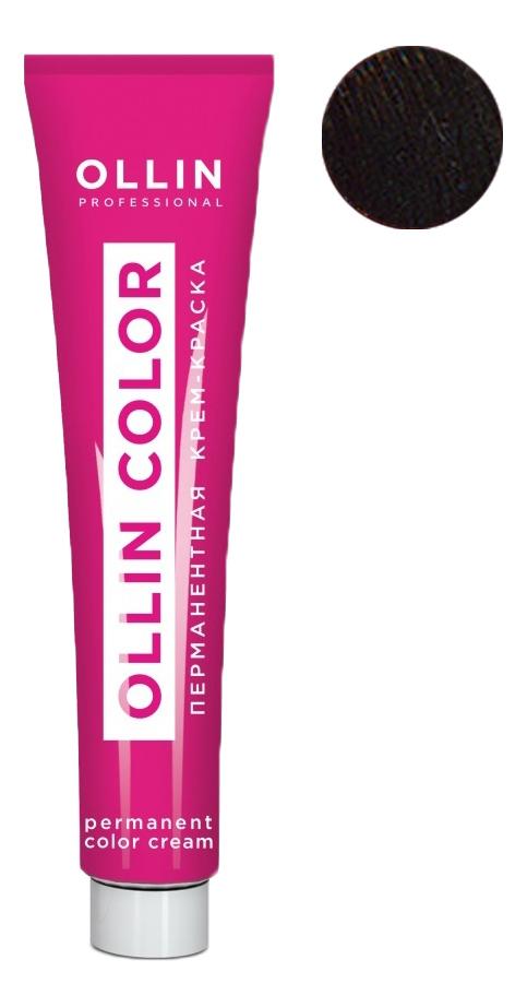 Купить Перманентная крем-краска для волос с экстрактом подсолнечника и шелка Ollin Color 100мл: 7/75 Русый коричнево-махагоновый, OLLIN Professional