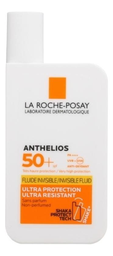 Флюид для лица и кожи вокруг глаз Anthelios Shaka Invisible Fluid SPF50+ PA++++ 50мл (без запаха) la roche posay shaka флюид для лица и кожи вокруг глаз spf50 50 мл la roche posay anthelios