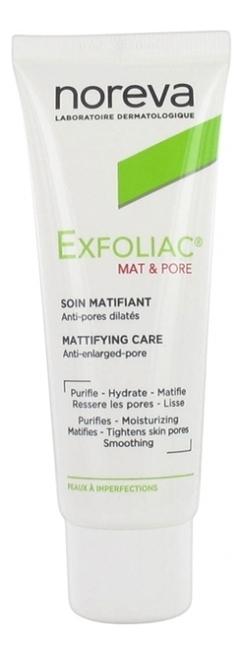 Матирующий и поросуживающий крем для лица Exfoliac Mat & Pore 40мл урьяж исеак уход 40мл матирующий