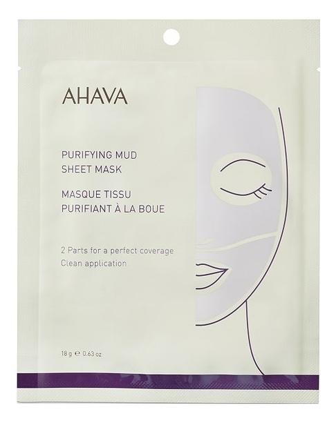 Купить Грязевая тканевая маска для лица Mineral Purifying Mud Sheet Mask 18г: Маска 1шт, AHAVA