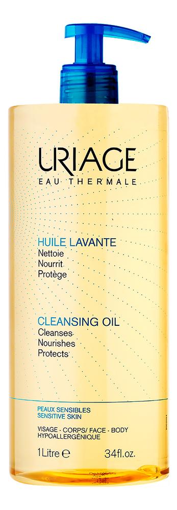 Купить Очищающее пенящееся масло для лица и тела Huile Lavante: Масло 1000мл, Uriage