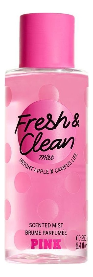 Фото - Парфюмерный спрей для тела Pink Fresh & Clean Scented Mist 250мл: Спрей 250мл ароматический спрей для тела ритуал расслабления relaxing aromatherapu mist 110мл