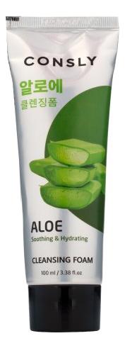 Успокаивающая пенка для умывания c экстрактом алоэ вера Aloe Vera Cleansing Foam 100мл фото