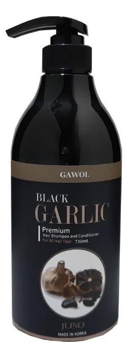 Шампунь-кондиционер с экстрактом черного чеснока Gawol Black Garlic Premium Hair Shampoo Conditioner 750мл