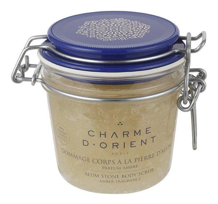 Купить Гоммаж квасцовый для тела с ароматом зеленого чая Gommage Corps A La Pierre D'Alun Parfum The Vert 300г, Charme D'Orient